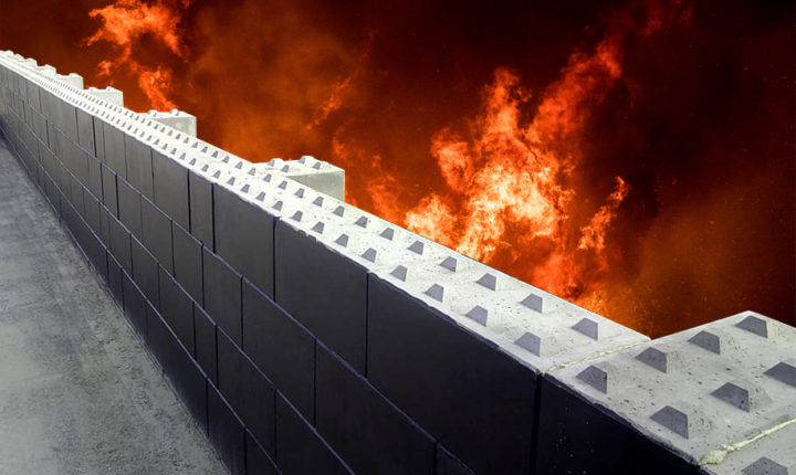 Fire break wall