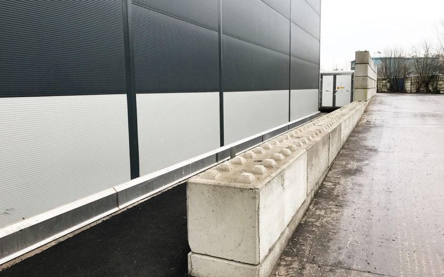 crash protection concrete blocks