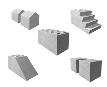building block shapes and sizes